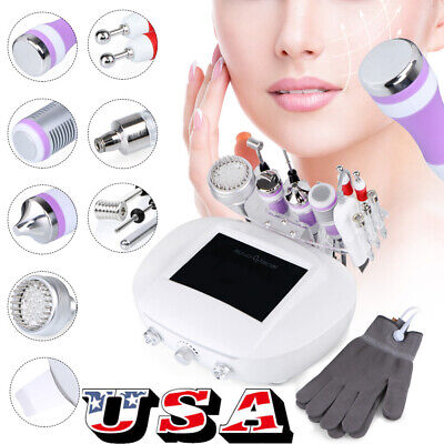9in1 3mhz Ultrasound Scrubber Dermabrasion Skin Care Facial Beauty Machine Usa
