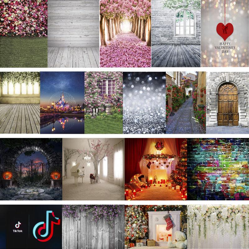 5x7/10x10FT Photography Backdrops 60+ Styles Vinyl Photo Background Studio Props