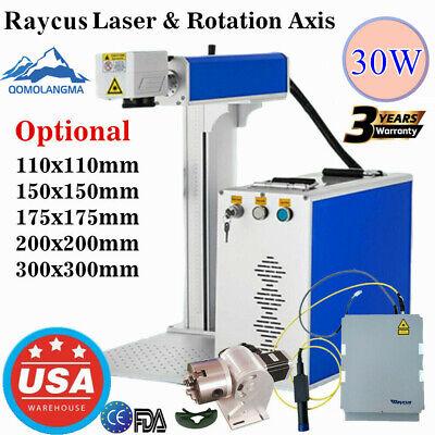 Usa 30w Split Fiber Laser Marking Machine Metal Laser Cutter Engraver Machine