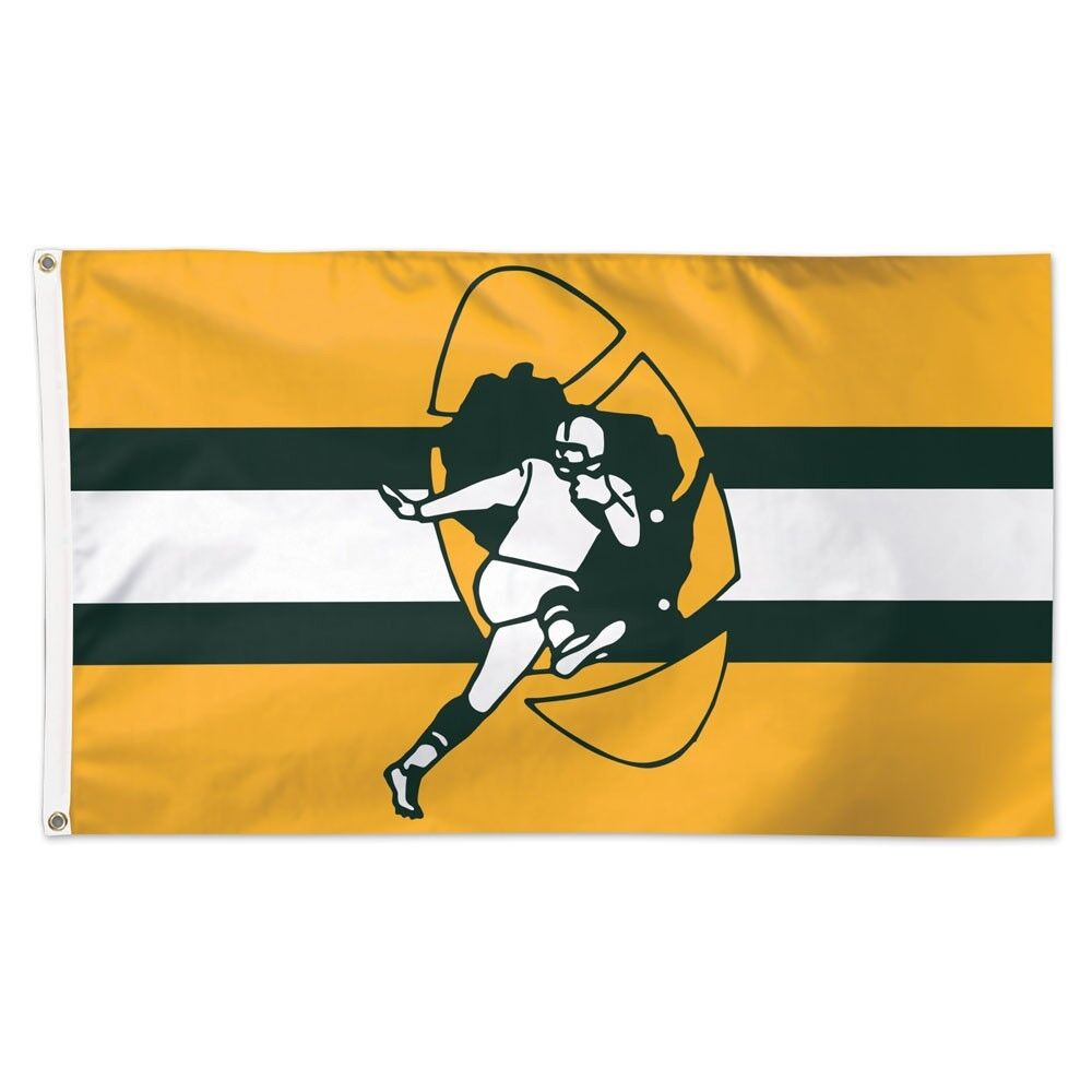 GREEN BAY PACKERS RETRO VINTAGE 3'X5' DELUXE FLAG NEW WINCRA