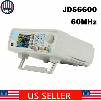 Jds6600 Dual-ch Dds Function Arbitrary Waveform Signal Generator 015mhz Us Ship