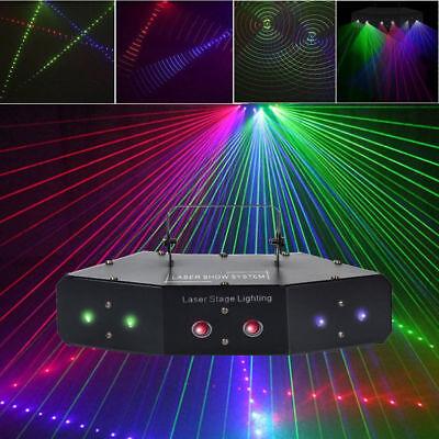 Sound Active LED RGB Stage Lights Lighting Laser Beam DMX 512 Disco Party Club