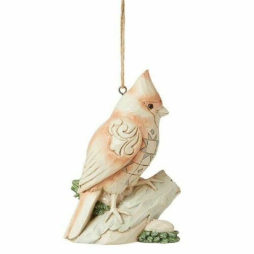 Jim Shore WHITE WOODLAND CARDINAL ON BRANCH ORNAMENT 6008867 BRAND NEW 2021