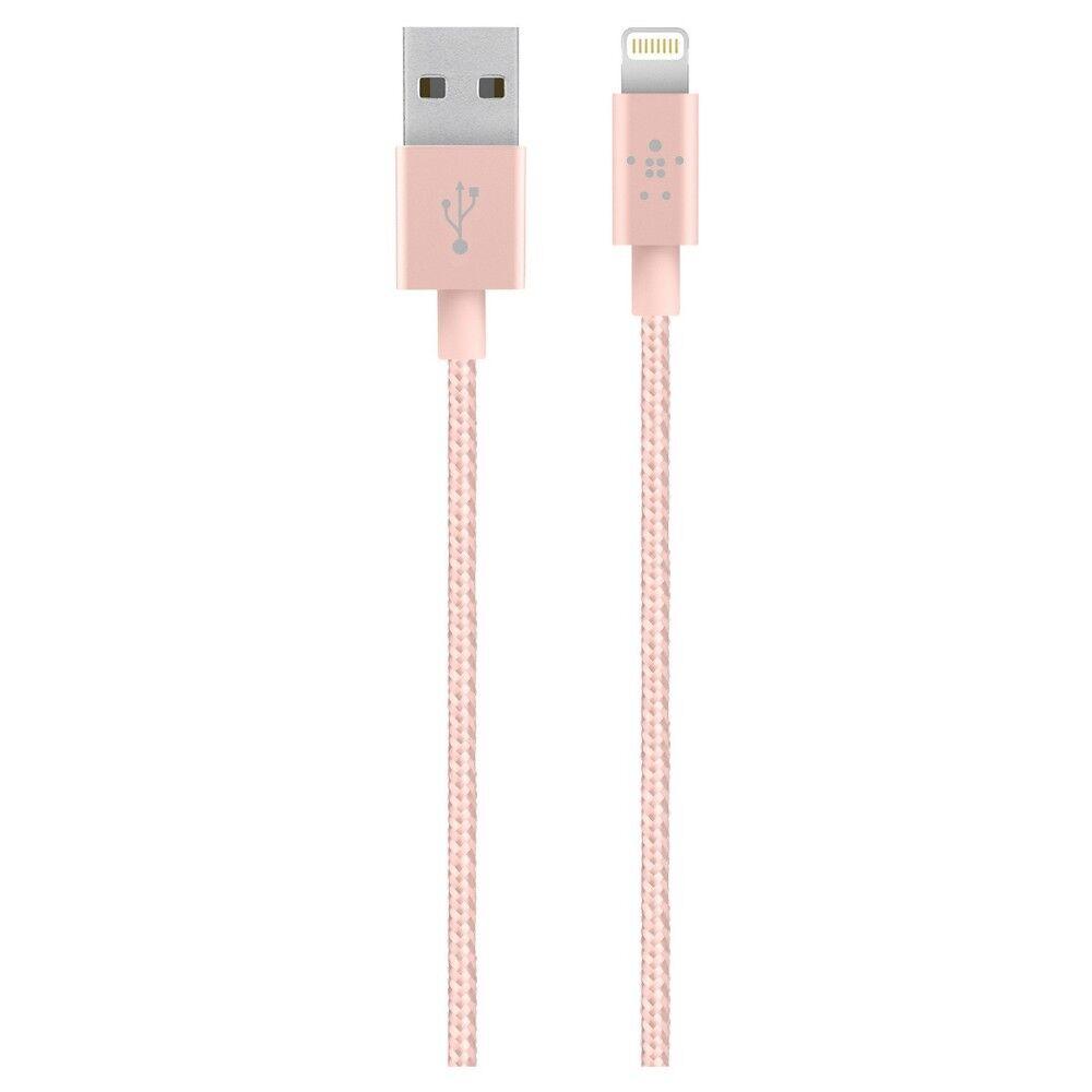 Belkin MIXIT  Metallic Lightning USB Cable, 4ft/1.2m, Rose G