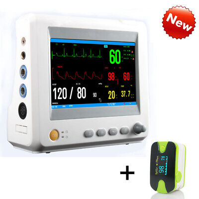 Portable Vital Sign Patient Monitor ECG NIBP RESP TEMP SPO2 PR Optional ETCO2