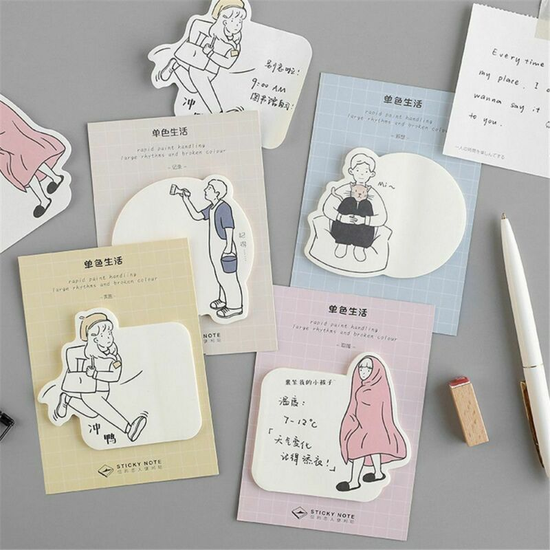 30sheets Single Life Sticky Notes Kawaii Memo Pad Scrapbooking Planner Stickers