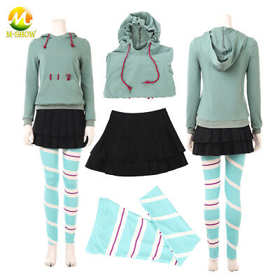 Ralph Breaks the Internet Wreck-It Ralph 2 Vanellope Cosplay Costume Outfit - Wreck It Ralph Outfit
