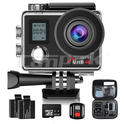 Campark ACT76 Action Sport Kamera WiFi HD 4K 16MP Fernbedienung Wasserdichte 32G
