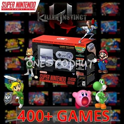 Super Nintendo SNES Classic Edition Mini Entertainment System 400+ Games