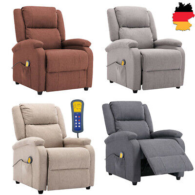 Massagesessel Heizung Fernsehsessel Relaxsessel Sessel Stühle Stoff Möbel