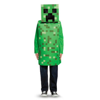 Kids Minecraft Creeper Classic Halloween Costume - Classic Kid Halloween Costumes