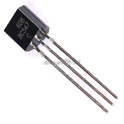 50pcs Bc547 To-92 Npn 45v 0.1a Transistor New