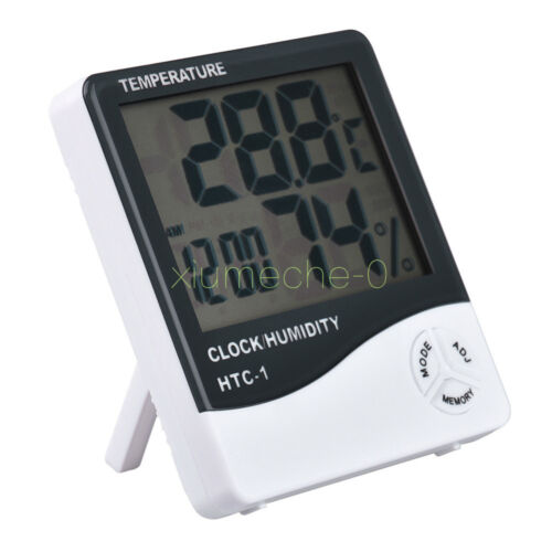 Thermometer Hygrometer Weather Station Temperature Humidity Desk Alarm Clock M