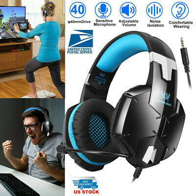 3.5mm Each G1200 Gaming Stereo Headset Headphones Headband + MIc for PC PS4 XBOX