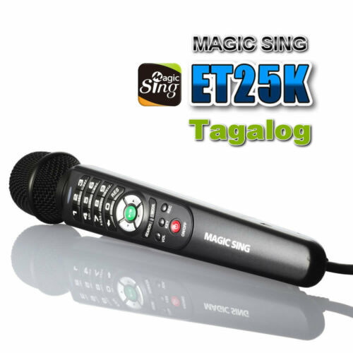 Magic Sing ET25K 2300 Tagalog English songs karaoke wired Mic Microphone