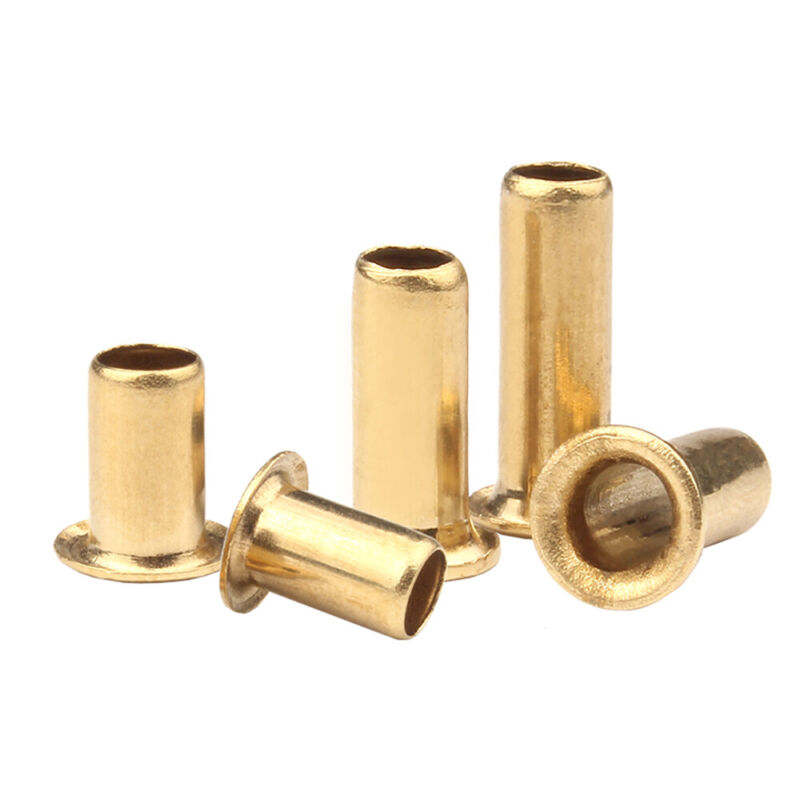 M3 M4 M5 M6 Copper Brass Eyelet Hollow Tubular Rivets Through Nuts Hole Grommets