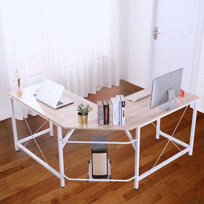 L-shaped Corner Desk Computer Office Table Pc Laptop Home Study Wood Workstation