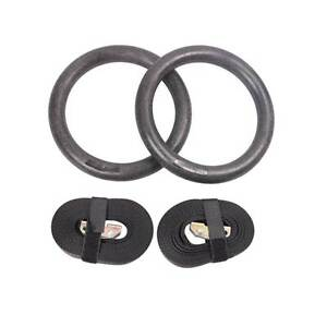 FREE SHIPPING - Gymnastic Gym Rings Hoop Crossfit Exercise Fitnes Melbourne CBD Melbourne City Preview