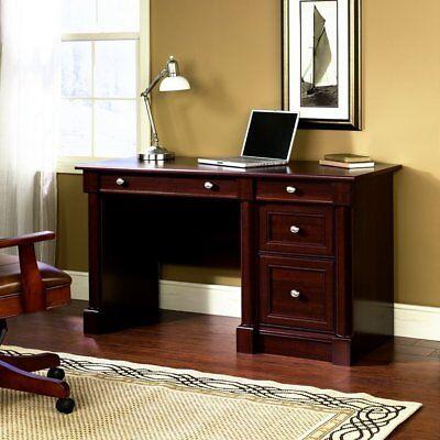 2 Drawer Cherry Computer Desk (Sauder 412116 Palladia Computer Desk With 2 Drawers, In Select Cherry Finish New )