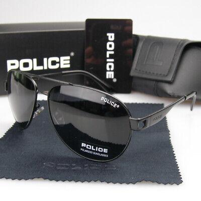 New Men's Women Polarized Sunglasses Metal Sport Retro Police Driving Glasses (Police Glasses Men)