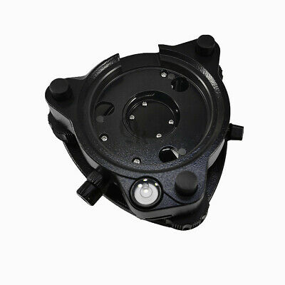 New Black Three-jaw Tribrach With Optical Plummet For Total Station Surveying