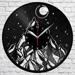 Mountain Moon Vinyl Record Wall Clock Home Fan Art Decor 12'' 30 cm 7169