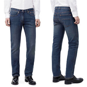 Jeans-Uomo-Denim-Pantaloni-Casual-5-Tasche-Comfort-Regular-Fit-TG-44-46-48