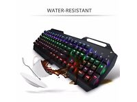 Gaming Keyboard -brand new -104-Key Mechanical (US Layout) Multi-color Backlight, USB Cable RRP £75