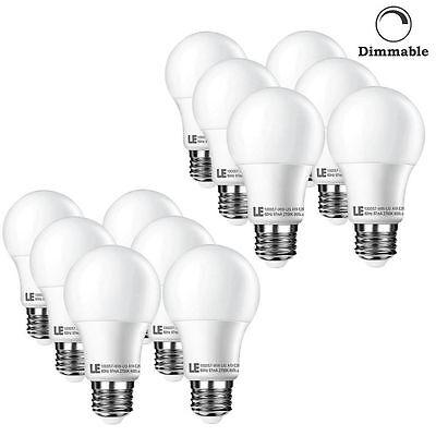 LE 12pcs 120V 10W E26 Dimmable LED Bulb Lamp Energy Saving Light Home Warm White