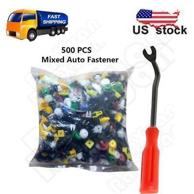 500Pcs Car Door Panel Bumper Fender Plastic Rivets Fastener Buckle Accessories