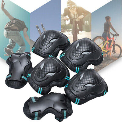 Safe ABS Sports Skateboard Protective Gear Set Knee Wrist Pads Bike Kids 6PCS