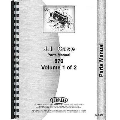 Fits Case 870 Tractor Parts Manual