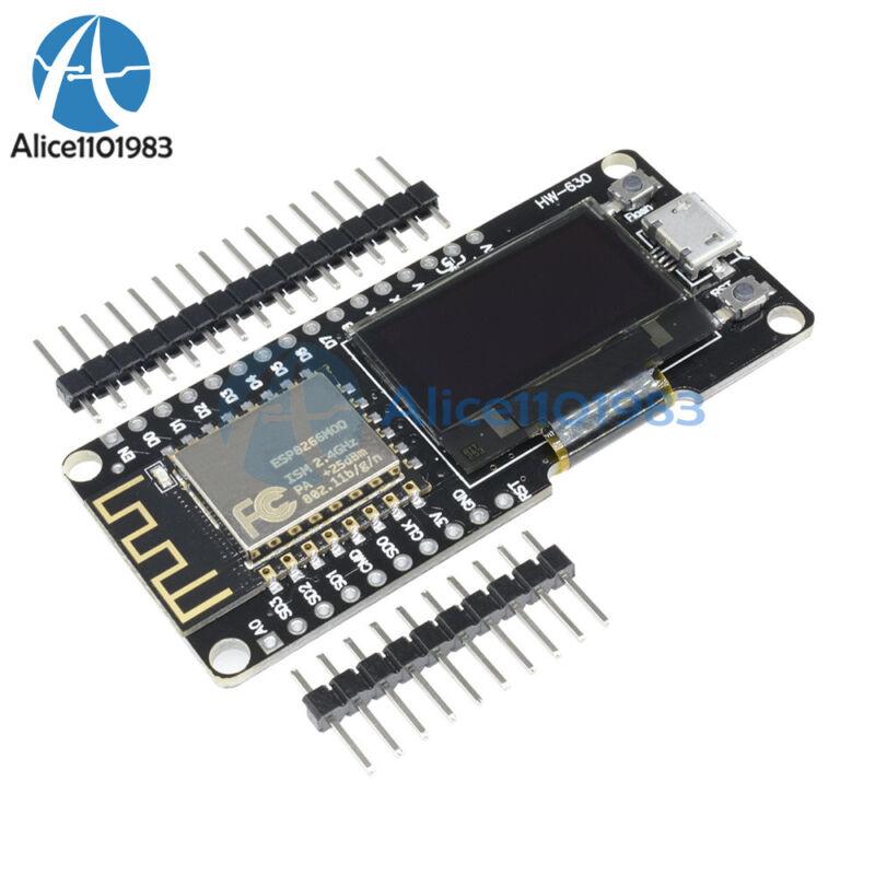"Nodemcu Wemos Wifi Esp8266 Esp-12f Cp2102 Micro Usb Development Board +0.96""oled"