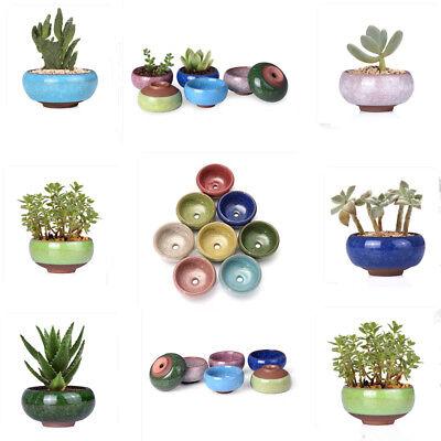 small ceramic succulent plant pot flower planter garden shop decor 1pcs set - Ceramic Flower