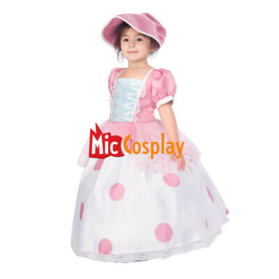 Kids Toy Story Little Bo Peep Cosplay Dress Costume (Peep Costumes)