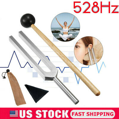 528hz Aluminum Medical Tuning Fork Chakra Hammer Ball Diagnosticgift Mallet Us