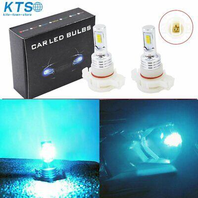 5202 PS24WFF LED Fog Light Bulbs Kit 35W 4000LM 8000K Blue Plug And Play US