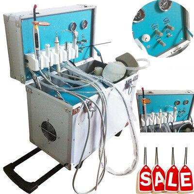 Dental Portable Mobile Delivery Unit Suction System Rolling Case Compressor 2 H