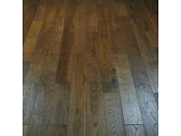 148 x 14/3mm Smoked Golden Oak Lacquered Wood Flooring Brand New Boxed Only 200m2 remaining