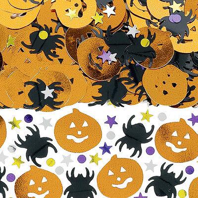 Halloween Tisch Konfetti Streuseln Metallisch Mix Kürbisse & Spinnen