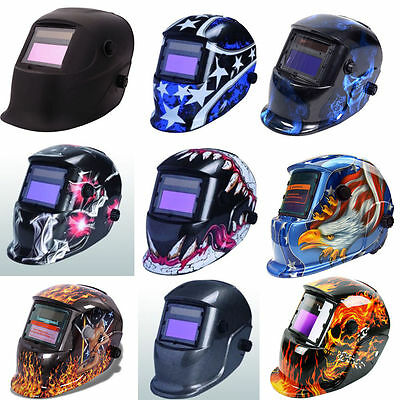 Pro Solar Auto Darkening Welding Helmet Arc Tig Mig Grinding Mask New 9 Styles