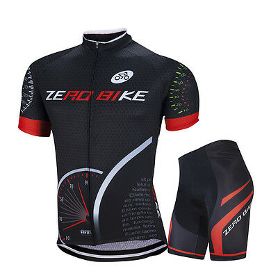 Men Sports Team Cycling Jersey Sets Bike Bicycle Shirt Top Short Sleeve Clothing