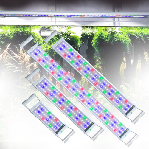 30-115cm LED Aufsetzleuchte Beleuchtung Aquarium Lampe RGB+Blau Wasserdicht IP67