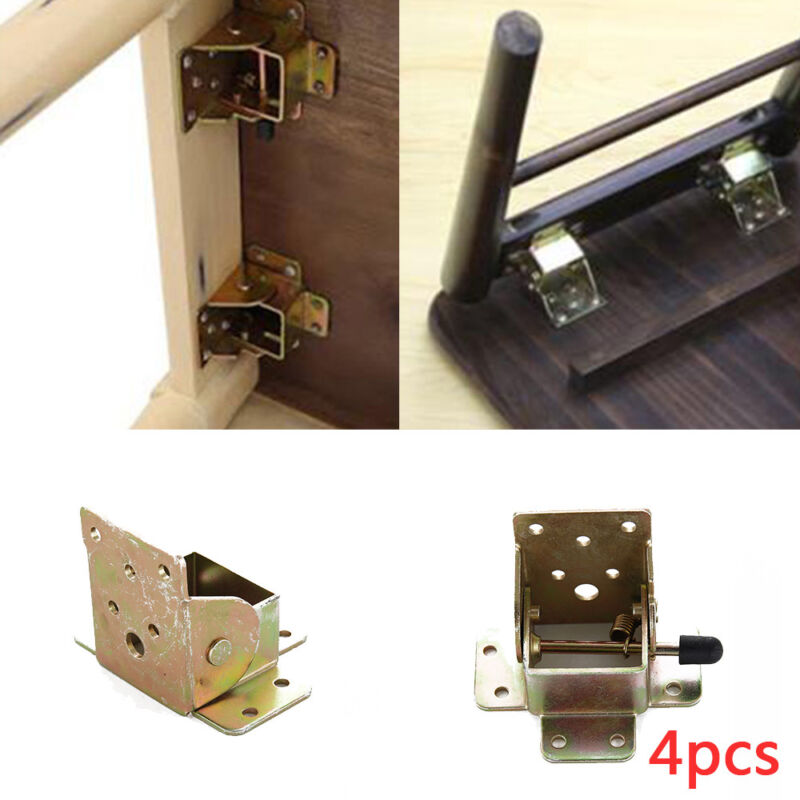 charni re de rabat support rabattable pliant acier pour pieds table ebay. Black Bedroom Furniture Sets. Home Design Ideas