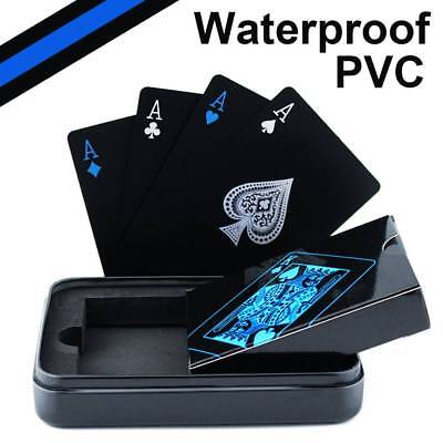 Waterproof Playing Cards (Creative Waterproof Black Plastic PVC Poker Magic Table Board Game Playing Cards )