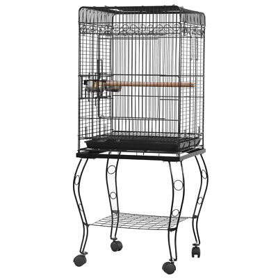 """23"""" 39"""" 57"""" Parrot Bird Canary Parakeet Cockatiel Finch Cage w/ Perches Food Cup"""