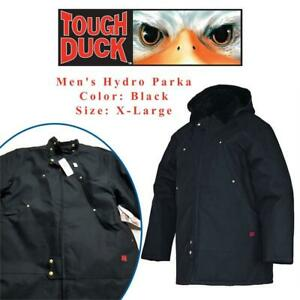 NEW Tough Duck Mens Hydro Parka, Black, X-Large Condtion: New, Black, X-Large