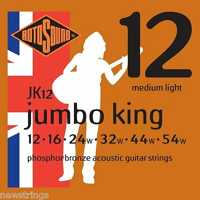 Rotosound Jumbo King JK12 Phos Bronze 12-54 medium LIGHT Acoustic Guitar Strings