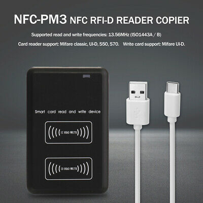 Contactless Intelligent Nfc Reader Writer Rfi-d Copier Ic I-d Duplicator Us F7y5