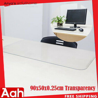 Clear Soft Glass PVC Protector Desk Mat Desktop Rectangle Dinning Table Cover